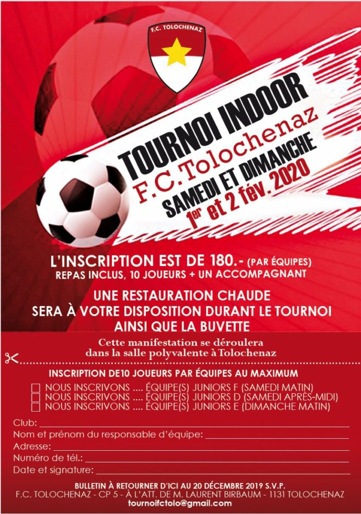 Tournois indoor juniors D – E – F